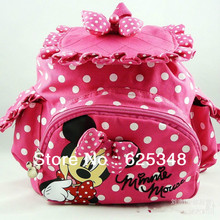 Retail Free Shipping Kids Backpack,Kids bag,Minnie School Bag for Kintergarden Children 2 Colors(China (Mainland))