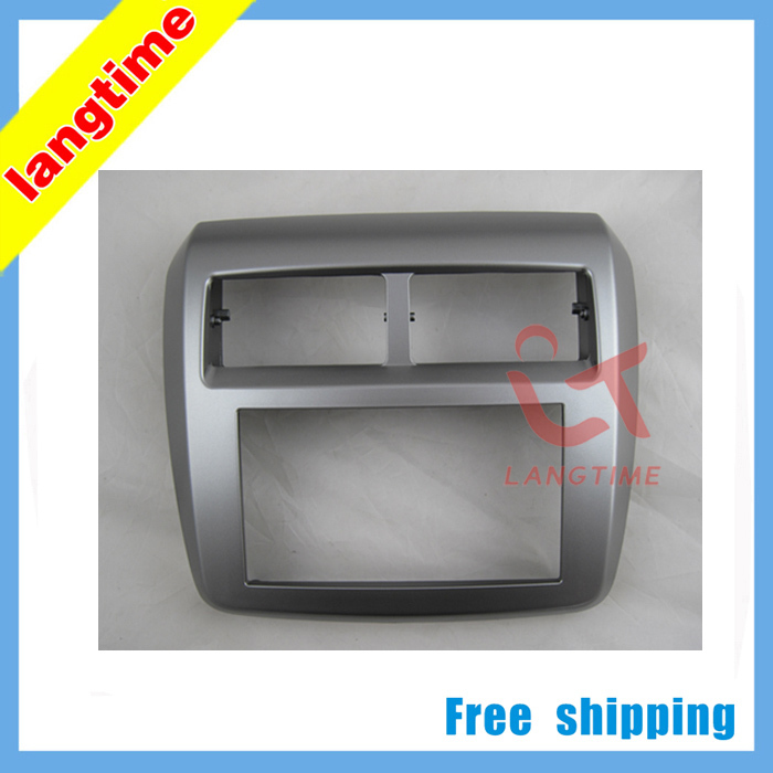 Free shipping-Car refitting DVD frame,DVD panel,Dash Kit,Fascia,Radio Frame,Audio frame for TOYOTA AGYA/ WIGO, 2DIN<br><br>Aliexpress