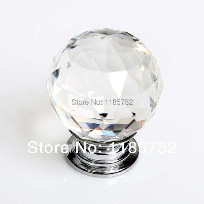 5 pcs set 30mm clear crystal home decorative kitchen