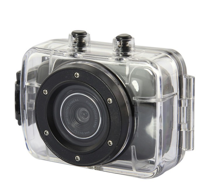 F08410-3 New 1.3M Waterproof Full HD 720P Digital Camera Sport Mini Sport DV Car DVR 2.0inch TFT LCD Touch(China (Mainland))