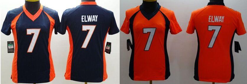 Wholesale Women Football Limited Jerseys Denver #7 John Elway,Stitched Free Shipping Jerseys,Cheap Accept Mix Order Jerseys(China (Mainland))