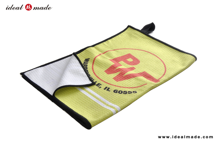 Hot Seller Microfiber Ourdoor Sports Deluxe golf towel Custom Business Logo Printing For Golf Game and Branding Promotions PGA(China (Mainland))