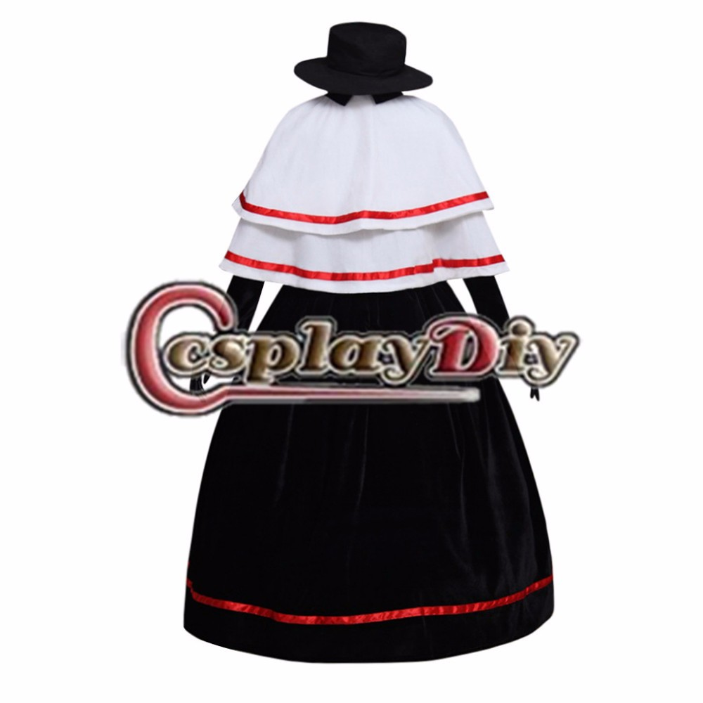 Vintage Lolita Dress Renaissance Gothic Medieval Dress Evening Party Costume with Cape Hat Costume Cosplay Custom Made