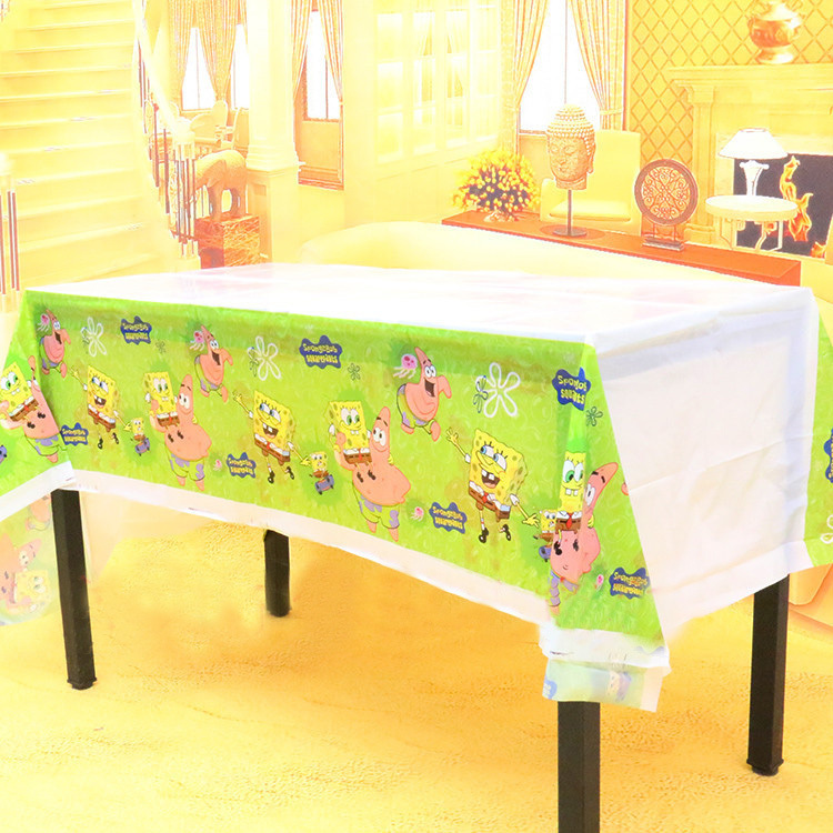 220*130cm Children's Day Birthday party Decor PLASTIC Table cover Sponge Baby theme Party table cloth(China (Mainland))