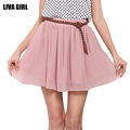 New Fashion 2016 Summer Skirts Sexy Mini Pleated Skirt Solid Color High Waist Stretch Cute Chiffon
