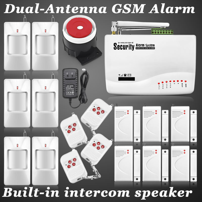 New Arrival,Dual-antenna GSM 900/1800/1900mhz security systems for home protection auto dial Voice prompt sensor detector alarm