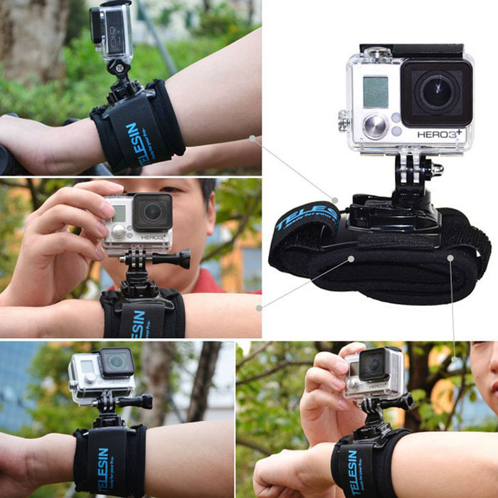 New 360 Degree Rotation Wrist Hand Strap Band Mount for Gopro Hero 2 3 3+ Jecksion(China (Mainland))