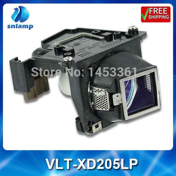 Compatible  projector bulb lamp VLT-XD205LP with housing for SD205 SD205R SD205U XD205 XD205U XD205R XD205U-G <br><br>Aliexpress