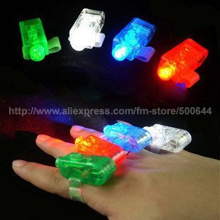 (4PCS/Set) LED Finger Light/Beams Ring Light/Flashing Finger Lamp/LED Laser Finger Light & 30Sets/Lot Free Shipping