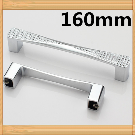 10pcs 160mm silver Dresser Drawer Pulls Cabinet Knobs And Handles Crystal Glass Furniture Handle<br><br>Aliexpress