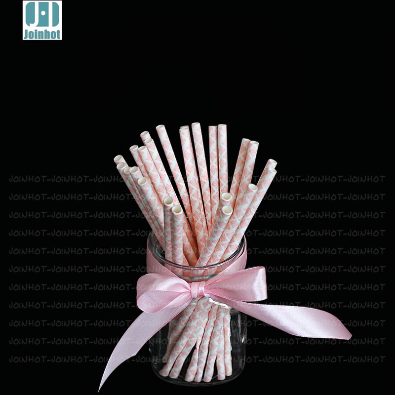 25pcs/lot Retro Vintage Paper drinking straw FOR Party Drinking Straws Birthday Wedding Decoration(China (Mainland))