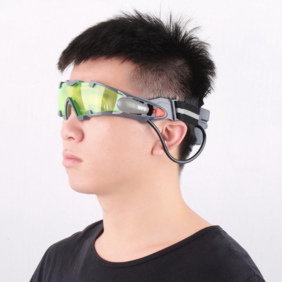 1Pc Glasses eyeshield Green Lens Adjustable Elastic Band Night Vision Goggles 2016 Fashion Reading Glasses