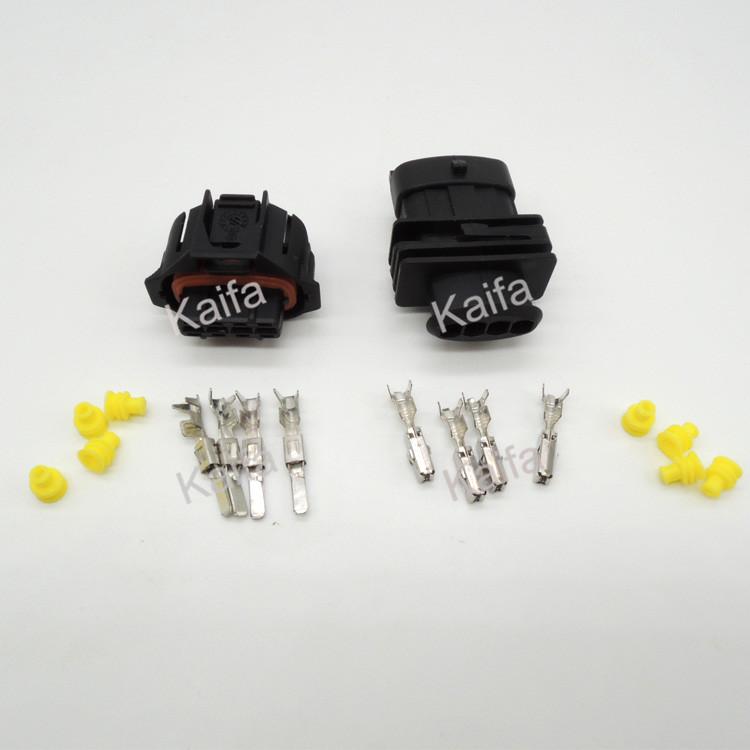 50 набор 4-контактный 3.5 мм штекер авто сенсер,Автомобильный Электрический Разъем Водонепроницаемый Разъем провода для автомобиля разъемы