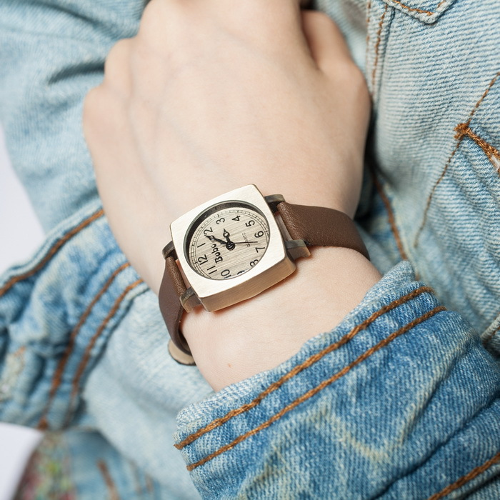 women fashion slim watch leather narrow band small case quartz movement vintage europe style top qualty free shipping<br><br>Aliexpress