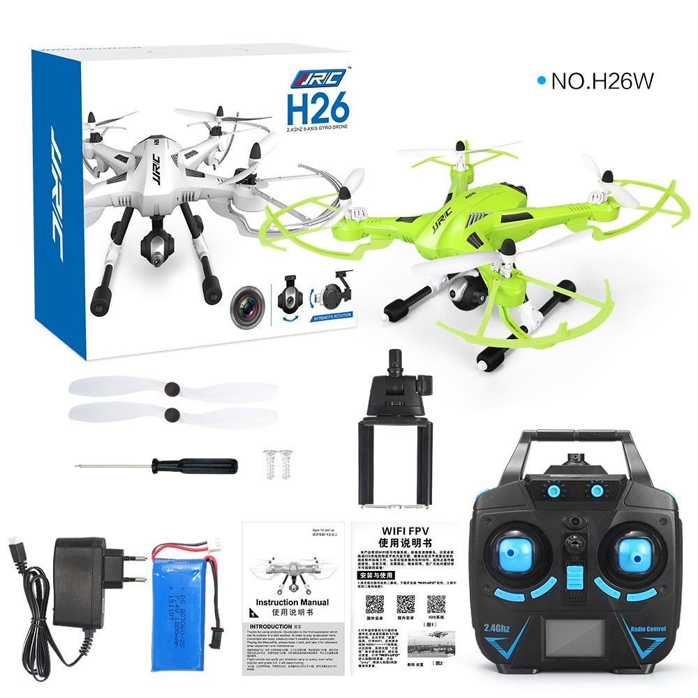 JJRC H26W WIFI FPV With 720P Camera One Key Return RC Quadcopter RTF 2.4GHz better than H11D