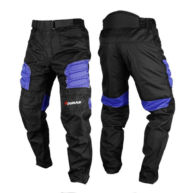 DUHAN Men's Oxford Cloth Riding Motocycle Racing Trousers Motocross Windproof Sports Pants Knee Protector Guards Racing Pants