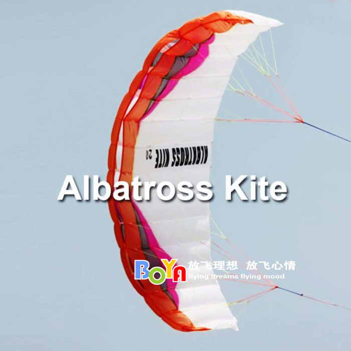 Outdoor sports professional kite albatross software 2 square kite stunt double paramotor free shipping(China (Mainland))