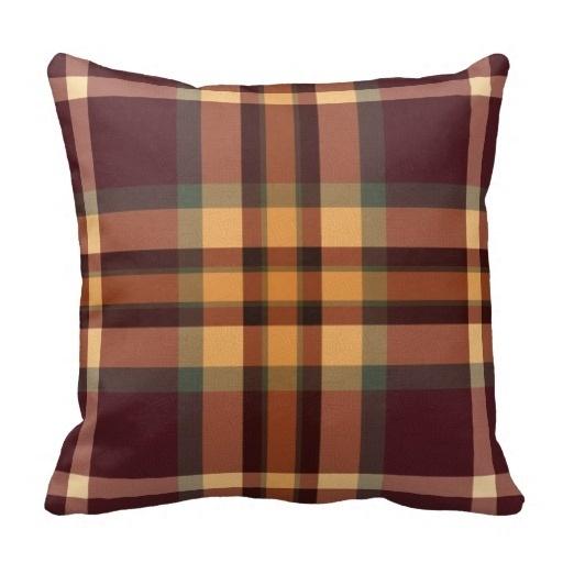 Pillow Cover Print Earthy Plaids font b Tartan b font Pattern Cushion Pillow Case Size 45x45cm