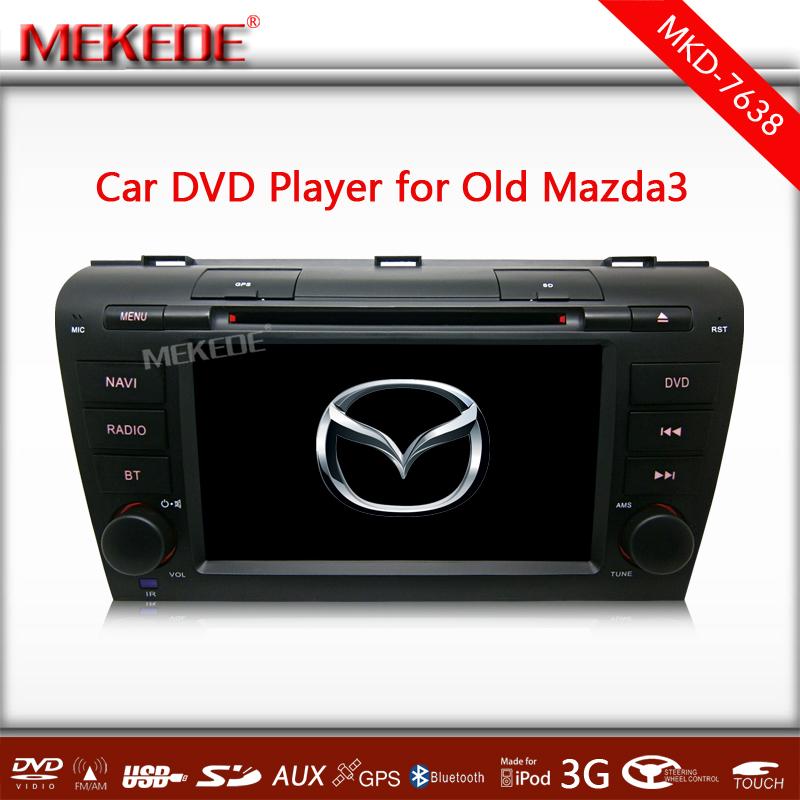"7"" Touch Screen Car DVD Stereo Player MAZDA3 MAZDA 3 2004 2005 2006 2007 2008 2009 Bluetooth Radio 3G WIFI GPS Navigation System(China (Mainland))"