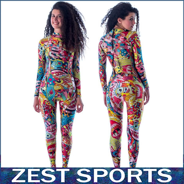 Фотография Top quality,,3mm thick women long-sleeved wetsuit, Individuality printing,surf clothing, fall and winter, Neoprene,swimsuit