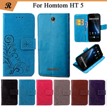 Buy Newest Homtom HT5 Factory Price Luxury Cool Printed Flower 100% Special PU Leather Flip case Strap for $4.38 in AliExpress store