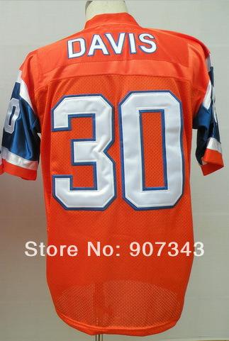#30 Terrell Davis Jersey,Throwback Football Jersey,Sport Jersey,Size M--XXXL,Accept Mix Order