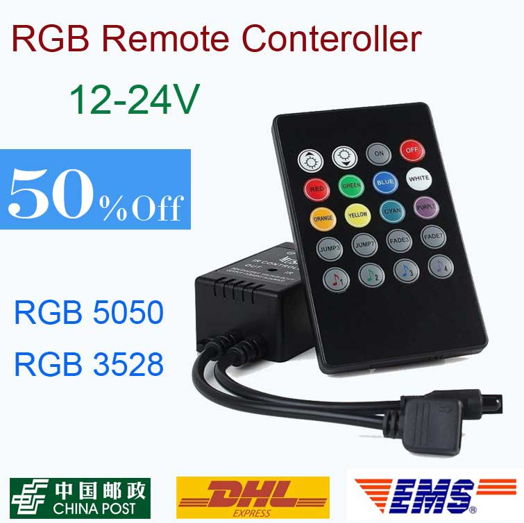 20 Keys Music Voice Sensor Controller Sound IR Remote Control Practical Home Party RGB 3528 5050 LED Strip light RGB Controllers(China (Mainland))