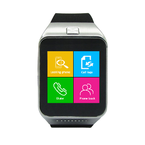 2015 Android Smart Watch 1.54inch Capacitive Touch Screen Bluetooth Single SIM Smartwatch Mobile phone(China (Mainland))