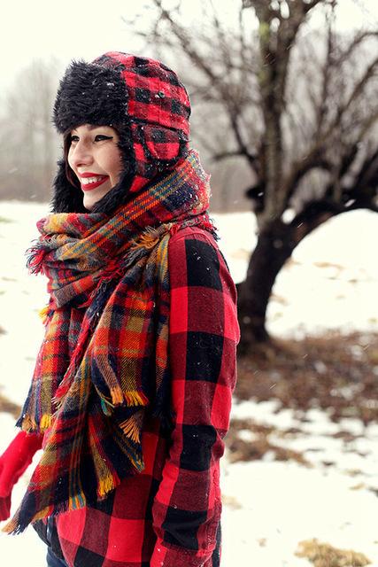 Мода леди женщины одеяло негабаритных шотландка шарфа платок плед уютный проверено пашмины горячий