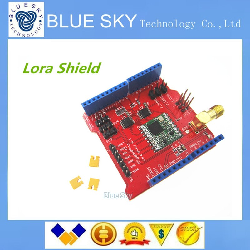 Free shipping 1pcs Long distance wireless 433/868/915Mhz Lora Shield for Arduino Leonardo, UNO, Mega2560, Duemilanove, Due