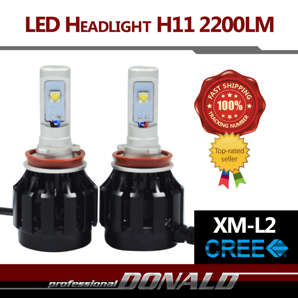 2x H8 H9 H11 40W/Set 4400LM CREE XM-L2 LED Car Headlight 6000K White Fog Headlight No Need Ballasts Easy Install Fast Cooling<br><br>Aliexpress