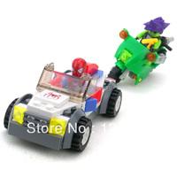 Free Shipping Kazi 87003 Spiderman models Building Blocks Bricks Children educational Assembling figure toys