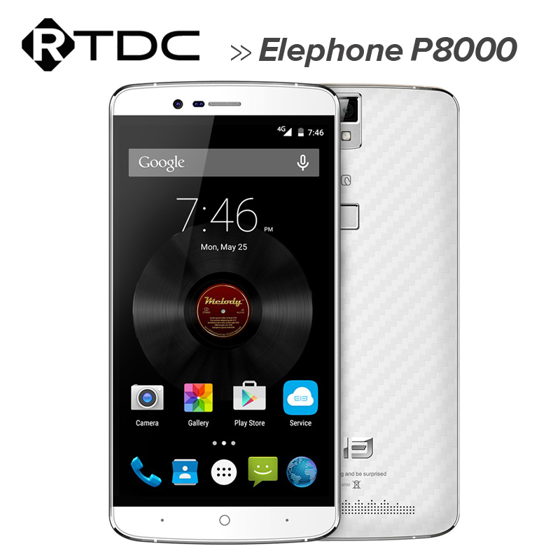 In stock Newest Elephone P8000 Mobile Phone 5.5'' FHD Android 5.1 MTK6753 Octa Core 3GB RAM 16GB ROM Fingerprint ID 13MP Camera(China (Mainland))