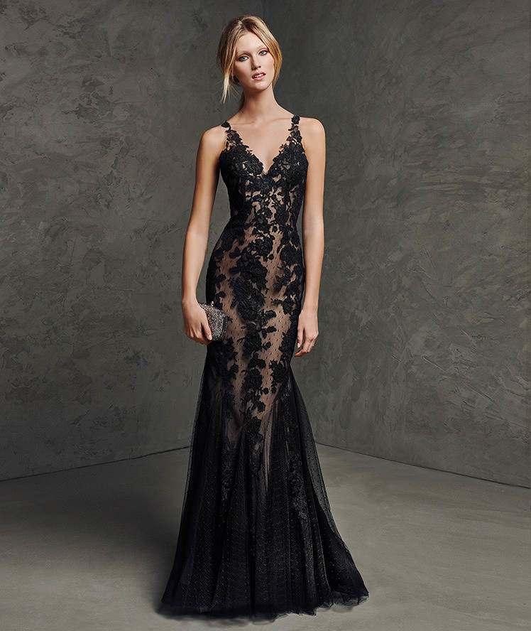 Black Lace Evening Dresses Photo Album - Reikian
