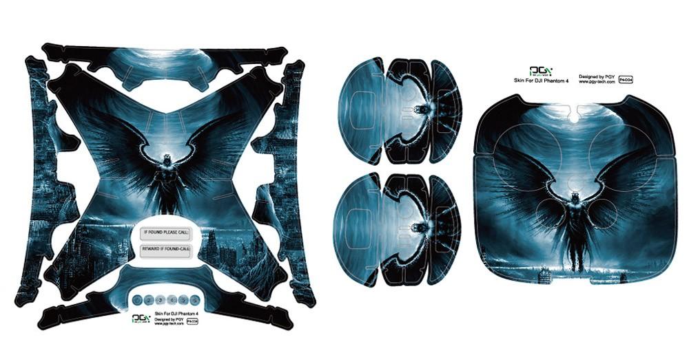 DJI Phantom 4 Sticker Professional accessories 3M PVC skin decal phantom4 Waterproof Quadcopter Drone parts