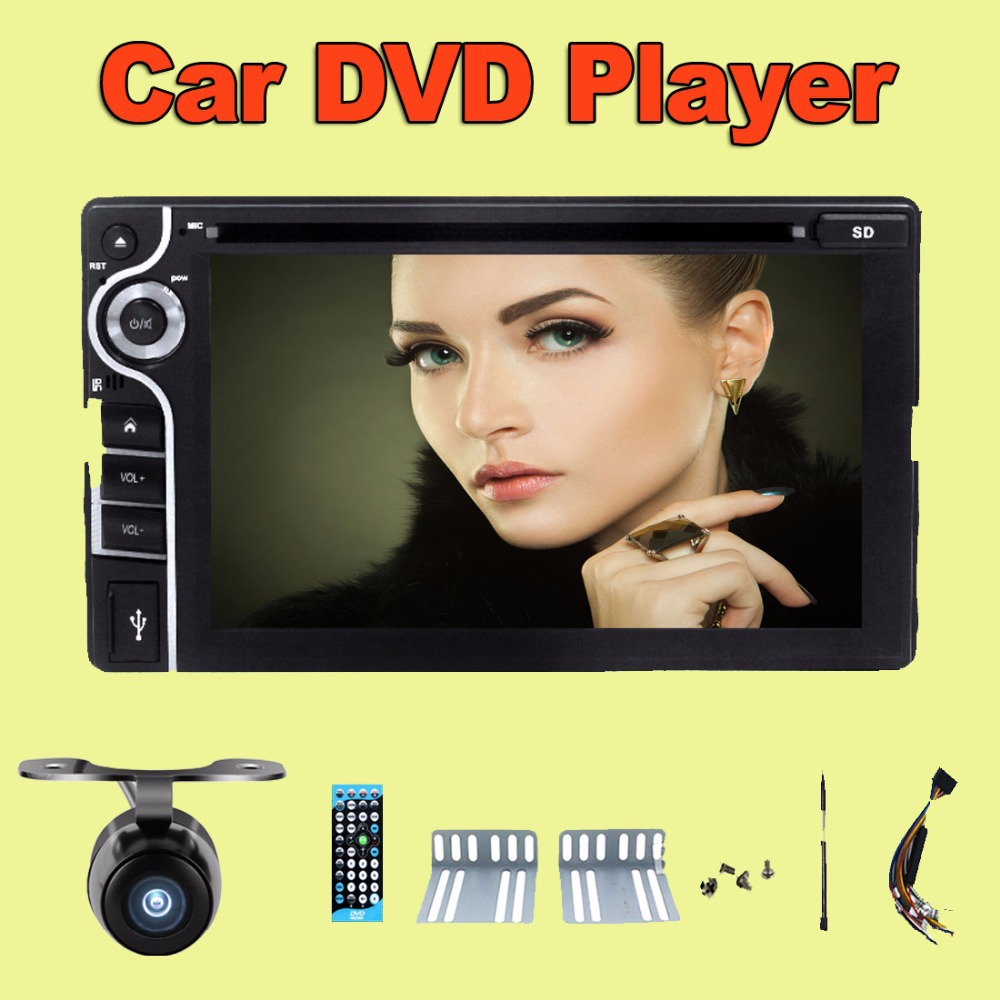 100% New universal Car Radio Double 2 din Car DVD Player without GPS In dash Car PC Stereo Head Unit video(China (Mainland))