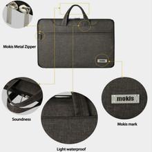 Mokis Laptop Sleeve Shoulder Computer Bag Suit for Portable Carrying for 14 inch Computer Tablet Black/Brown Color Handbags