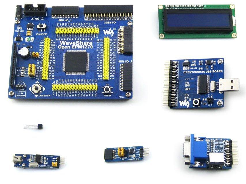 Altera MAX II CPLD Development Board EPM1270 + 6 Accessory Module Kits =OpenEPM1270 Package A<br><br>Aliexpress