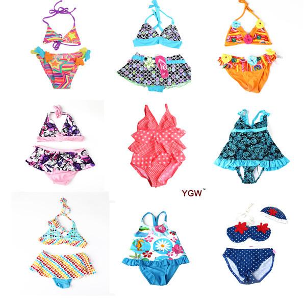A+++ BRAND Cuter Baby Swimsuit Biquini Bikini Infantil Swimming Bathing Suit Skirt Costumes Swimwear For Girls Children's Kids(China (Mainland))