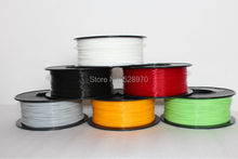 Free shipping full Colors high quality 3D printer filament PLA 1.75mm/3mm 1kg MakerBot/RepRap/kossel/UP  3D Printing Material