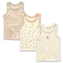 export quality boy cotton vest 3pcs/pack  hurdles vest bottoming breathable thin super soft sweat uptake vest children boys