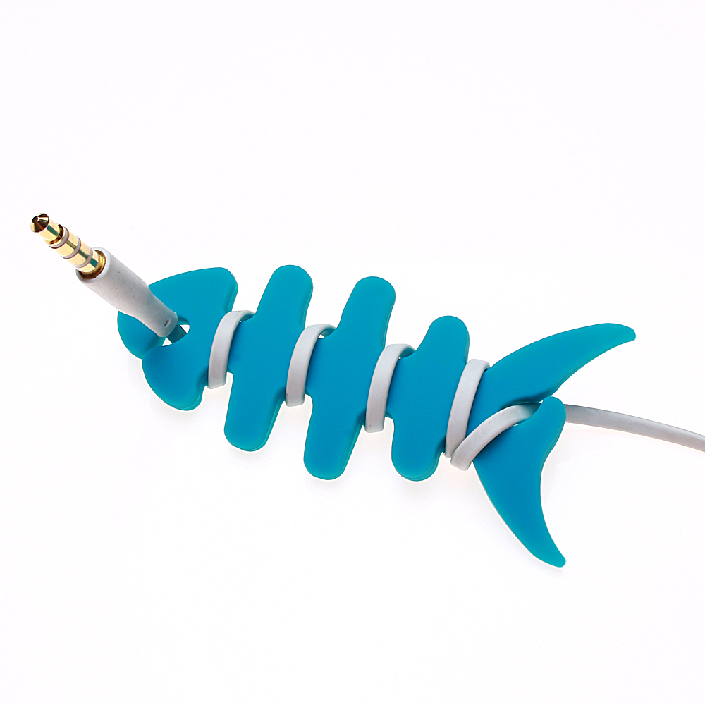 Holder Headphone Earphone Innovation Cartoon Earphone line winding silicone reel winder fish fishbone winder silicone winder(China (Mainland))