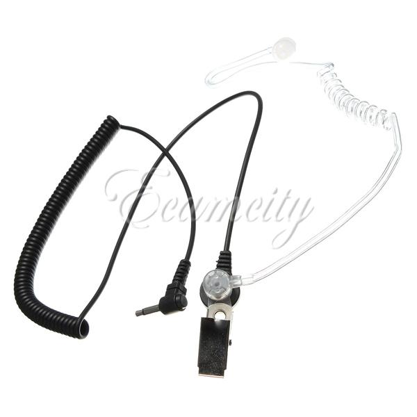New Listen Receive Acoustic Tube Earpiece Headset 3.5mm 1 PIN long coiled cord for Icom for Motorola ICOM PR1500 Radio(China (Mainland))