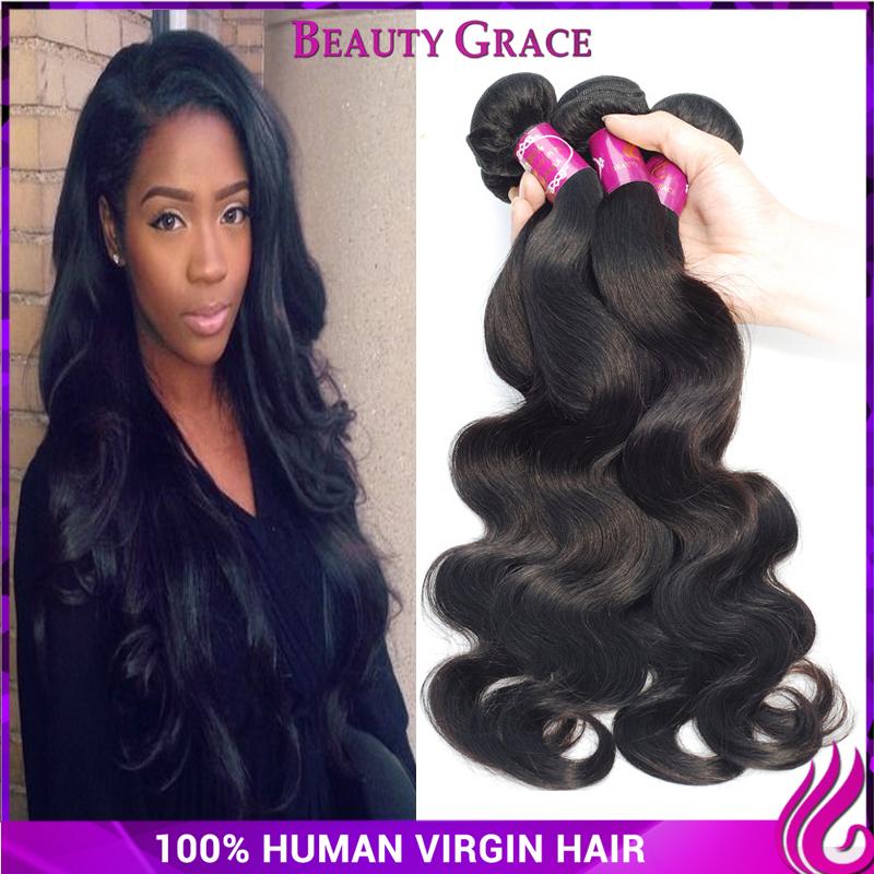 peruvian virgin hair body wave 4 pcs lot virgin 6a unprocessed human hair cheap virgin hair 4pcs 100g(China (Mainland))
