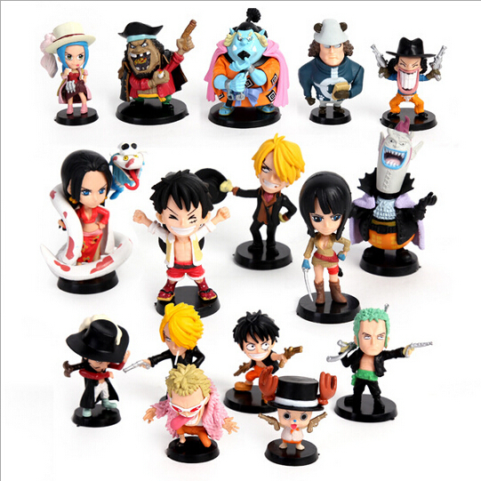HOT SELL One piece action figure 16 PCS full set , anime onepiece figure toys gift FREE SHIPPING(China (Mainland))