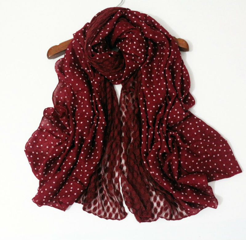 2016 lace dots luxury fancy scarfs winter warm shawls and scarves high quality elegant lady women pashmina cosy soft 3 colors(China (Mainland))