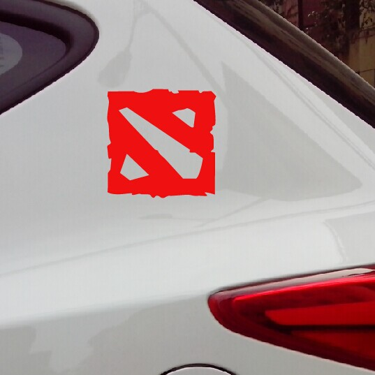DOTA 2 GAME LOGO high quality funny vinyl car sticker and vinyl decals for car and motorcycle Free Shipping(China (Mainland))