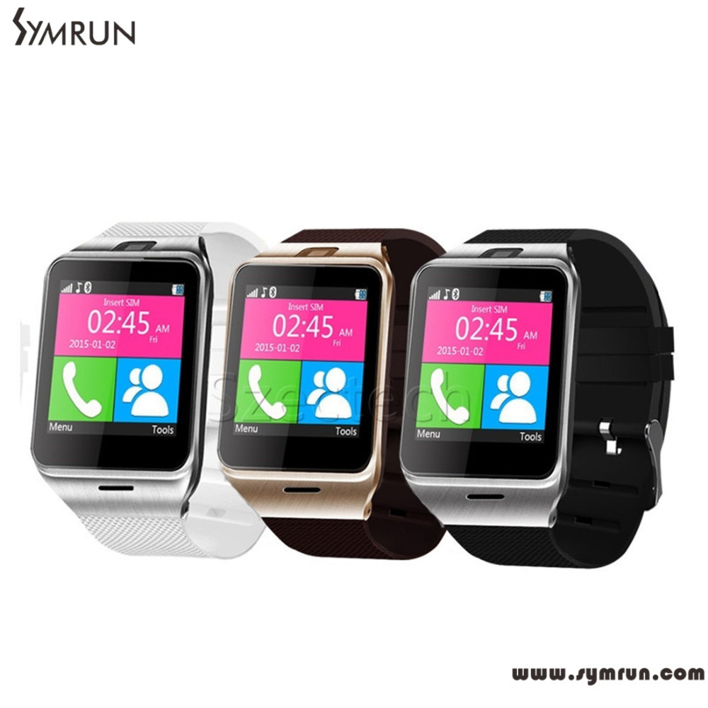 Symrun Original GV18 Bluetooth Wrist Watch With Camera Android Smart Watch Support NFC SIM gv18 smart phone(China (Mainland))