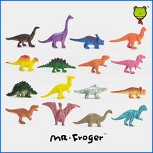 Mr. Froger Dinosaurios modelo conjunto 16 unidades lindo estático de plástico animales decoración regalos de juguetes niños Mini colores pequeña Jurásico 16 unids(China (Mainland))