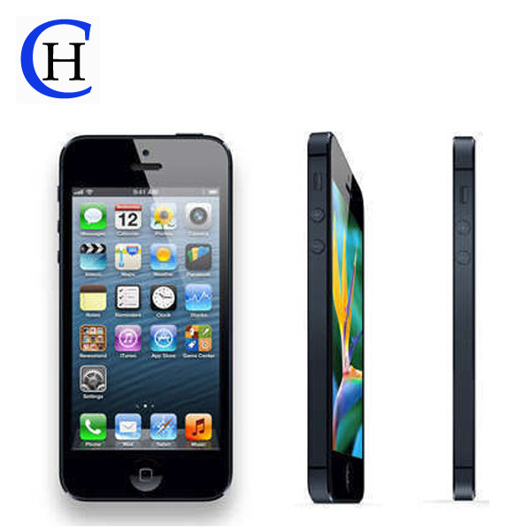 original mobile Apple iPhone 5 Factory Unlocked Dual-core 16/32GB iOS 6 GSM 3G WIFI GPS 8MP One year warranty used smart phone(China (Mainland))